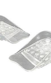 1pair transparent 5 lag justerbar høyere innersål silikon gel innsatser løftesko pads høyde øke komfortabel fotmassasje