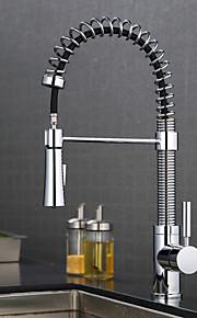 Hedendaagse Middenset Met uitneembare spray with  Keramische ventiel Chroom , Keuken Kraan