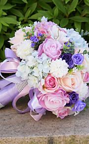 Bouquet sposa Bouquet Matrimonio Con perline Pizzo 25cm