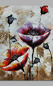 IARTS® Hand Painted Modern Abstract Poppy Floweres Floral Oil Painting On Canvas with Stretched Frame Wall Art For Home Decoration Ready To Hang
