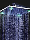 12 inch chroom messing douche kop met 4 LED-lampjes (0.698-l-4210)