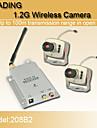 seguridad de circuito cerrado de television inalambrica de 1.2GHz nuevo CMOS color camara de video y un receptor de video