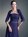 3/4-length Sleeves Chiffon Special Occasion Evening Jacket/Wedding Wrap Bolero Shrug