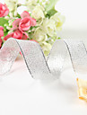 5/8 Inch Metallic Silvery Ribbon