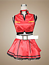 Inspiriert von Vocaloid Meiko Video Spiel Cosplay Kostueme Cosplay Kostueme / Kleider Patchwork Rot AErmellosMantel / Rock / Halsketten /
