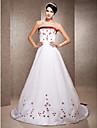 Lanting Bride® А-силуэт / Принцесса Для миниатюрных / Большие размеры Свадебное платье - Классика / Элегантность и роскошьСвадебные