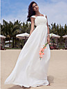 Lanting Bride® Sheath / Column Petite / Plus Sizes Wedding Dress - Classic & Timeless / Glamorous & Dramatic / Reception Floor-length