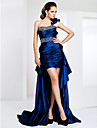 TS Couture Cocktail Party / Formal Evening Dress - Royal Blue Plus Sizes / Petite Sheath/Column One ShoulderAsymmetrical / Sweep/Brush Train /