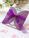 Formal Purple Wedding Invitation With Organza Bow (Set of 60)