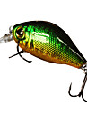 "1 pcs Hard Bait / Crank / Fishing Lures Hard Bait / Crank Green / Pink / Yellow / Blue / Red 7 g/1/4 oz. Ounce mm/1-5/8"" inch,Hard Plastic"