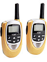 mini 22-kanals walkie talkie (5km intervall, 2-pack, gul)