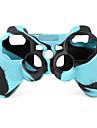 skyddande tvåfärgad stil silikon etui till PS3 Controller (blå och svart)