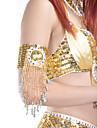 1 peca de poliester dancewear com beading / lantejoulas pulseira danca do ventre para senhoras mais cores