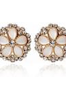 Stud Earrings Women\'s Alloy Earring Onyx/Rhinestone