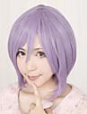 Perruques de Cosplay Bonne etoile Hiiragi Tsukasa Violet Court Anime Perruques de Cosplay 32 CM Fibre resistante a la chaleur Feminin