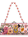Elegant Cotton with Multicolor Beading Evening Handbag/Clutches(More Colors)