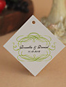 Personalized Rhombus Favor Tag - Green Elegance (Set of 30)