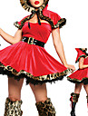 Costumes de Cosplay Costume de Soiree Conte de Fee Fete / Celebration Deguisement d\'Halloween Rouge Mosaique Manteau Robe Ceinture