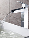 Sprinkle® by Lightinthebox - Solid Brass Waterfall Bathroom Sink Faucet Chrome Finish(Tall)