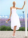 Lanting Bride® A-line / Princess Petite / Plus Sizes Wedding Dress - Chic & Modern / Reception Little White Dresses Asymmetrical Strapless