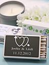 Hochzeit Dekor personalisiert Streichholzschachteln - Doppel-Herz mit Pfeil (Satz 12)