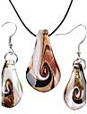 femei simplifica auriu colier vaidurya maro și cercel