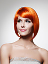 capless synthetique menton longueur d\'orange bob perruque de cheveux de style