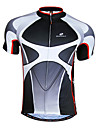 NUCKILY® Cycling Jersey Men\'s Short Sleeve Bike Breathable / Quick Dry / Front Zipper / Wearable Jersey / Tops 100% Polyester Patchwork