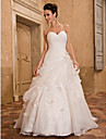Lanting Bride® A-line Plus Sizes / Petite Wedding Dress - Classic & Timeless / Glamorous & Dramatic Spring 2013 Chapel Train Sweetheart
