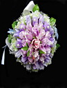 Elegante in raso / cotone Forma Wedding Bouquet rotondo / bouquet da sposa