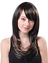 Capless Long Brown Ondulado sinteticos de alta qualidade japones Kanekalon perucas