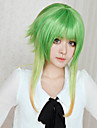 Cosplay Wigs Vocaloid Gumi Green Medium Anime/ Video Games Cosplay Wigs 45 CM Heat Resistant Fiber Female