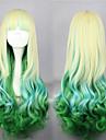 Perruques de lolita Doux Degrade de Couleur Long Dore / Vert Perruques de Lolita 75 CM Perruques de Cosplay Mosaique Perruque Pour Femme