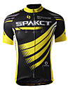 SPAKCT Cycling Tops / Jerseys Men\'s Bike Breathable / Moisture Permeability / Quick Dry Short Sleeve 100% Polyester Stripe YellowS / M /