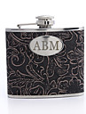 Gift Groomsman Personalized Floral Design 5-oz Flask