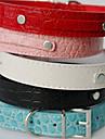 Hundar Halsband Krokodilskinnsmönster Röd / Svart / Vit / Blå / Rosa PU Läder
