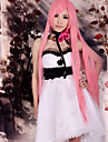 Inspired by Vocaloid Megurine Luka Video Game Cosplay Costumes Cosplay Suits Dresses Patchwork Sleeveless Dress Headpiece