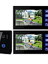 Videocitofono TFT LC, 7 pollici, con tasto touch (1 videocamera e 2 monitor)