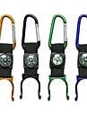 Alumnium Alloy Outdoor Portable flaskgripdon med Compass / karbinhake (slumpvis färg)