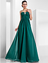 TS Couture® Formal Evening / Military Ball Dress - Elegant Plus Size / Petite A-line / Princess Sweetheart / Spaghetti Straps Floor-length Chiffon