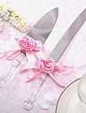 Serving Sets Wedding Cake Knife Personalized Satin Rose Cake Knife And Server Set
