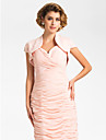 Wedding  Wraps Shrugs Short Sleeve Chiffon Pearl Pink Wedding / Party/Evening Capped Open Front