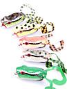 1 pcs Leurre souple / leurres de peche Leurre souple / Grenouille Vert / Orange / Jaune g Once mm pouce,Plastique souplePeche en mer /