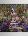 Famous Oil Painting A Pathway in Monet\'s Gardenat Giverny by Claude Monet