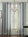 mediterraneen deux panneaux bande multi-couleurs des rideaux a panneaux en polyester salon rideaux
