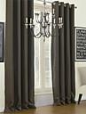 moderna två paneler fast choklad vardagsrum polyester mörkläggningsgardiner gardiner
