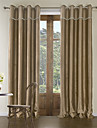 Modern Two Panels Geometric Khaki Bedroom Polyester Curtains Drapes