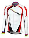 Maillot Cyclisme Velo Homme Manches longues 100% fibre polyester a manches longues respirant + sechage rapide des hommes Santic