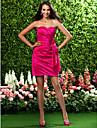 LAN TING BRIDE Short / Mini Strapless Sweetheart Bridesmaid Dress - Floral Sleeveless Taffeta