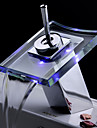 Bathroom Sink Faucet Color Changing LED Waterfall Glass Spout
